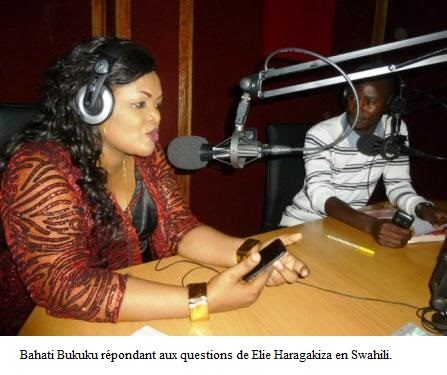 Bahati Bukuku visite  la Radio TV Buntu-Ijwi ry'Impfuvyi n'Abapfakazi.