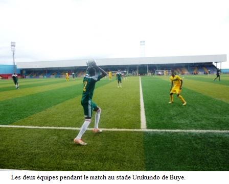 Le Burundi bat l'Ethiopie dans un match de football à Buye.