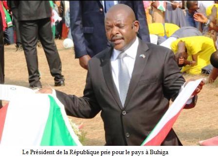 Clôture de la prière d'action de grâce organisée à Buhiga par la famille présidentielle.